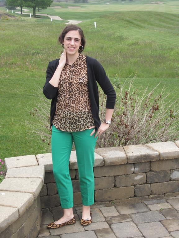 Green Pants Leopard Shirt 001