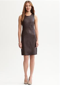 you pick wednesday brown leather sheath dress three ways loop looks